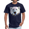 Polar bear t-shirt - Animal Face T-Shirt - navy