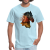 Horse t-shirt - Animal Face T-Shirt - powder blue