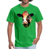 Holstein cow t-shirt - Animal Face T-Shirt - bright green