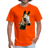 Donkey t-shirt - Animal Face T-Shirt - orange