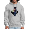 Young wolf standing hoodie - Animal Face Hoodie - heather gray