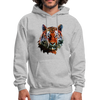Tiger Men's Hoodie - heather gray