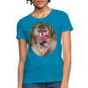 Mandrill Monkey Women's T-Shirt - turquoise