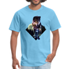 Young wolf standing T-Shirt - Animal Face T-Shirt - aquatic blue