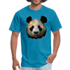 Panda t-shirt - Animal Face T-Shirt - turquoise