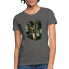 Deer with foliage Women's T-Shirt - charcoal
