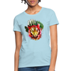 Watercolor Tiger Women's T-Shirt - powder blue