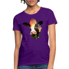 Holstein cow Women's T-Shirt - purple