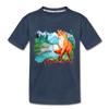 Fox Kid's Premium Organic T-Shirt - navy