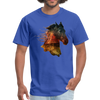 Horse t-shirt - Animal Face T-Shirt - royal blue