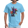 Flying Hummingbird Men's T-Shirt - aquatic blue