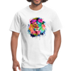 Lion with mane t-shirt - Animal Face T-Shirt - white