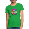 Lion with mane Women's T-Shirt - bright green