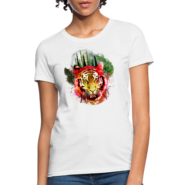 Watercolor Tiger Women's T-Shirt - white