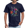 Flying Hummingbird Men's T-Shirt - navy