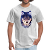 Wolf  t-shirt - Animal Face T-Shirt - heather gray