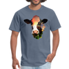 Holstein cow t-shirt - Animal Face T-Shirt - denim