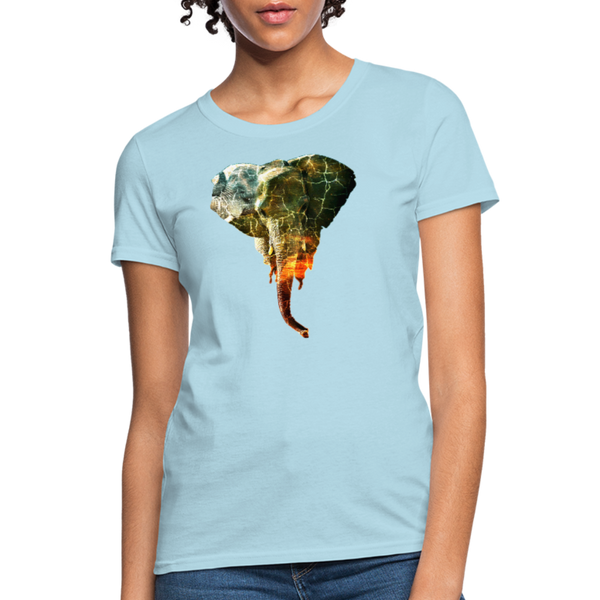 Elephant Women's T-Shirt - powder blue