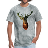 Deer t-shirt - Animal Face T-Shirt - grey tie dye