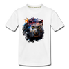 Black panther Kid's Premium Organic T-Shirt - white