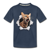 Cat with eyes Kid's Premium Organic T-Shirt - navy