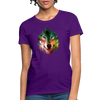 Wolf face Women's T-Shirt - purple