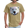 Polar bear t-shirt - Animal Face T-Shirt - khaki