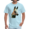 Donkey t-shirt - Animal Face T-Shirt - powder blue