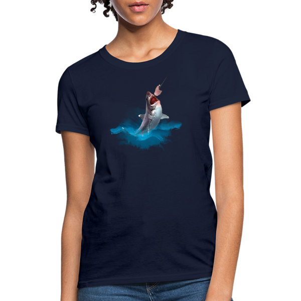 Jumping shark Women's T-Shirt - navy