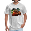 Chilling Kangaroo t-shirt - heather gray