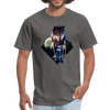 Young wolf standing T-Shirt - Animal Face T-Shirt - charcoal