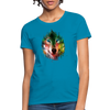 Wolf face Women's T-Shirt - turquoise