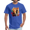 Paying baby cat T-Shirt - Animal Face T-Shirt - royal blue
