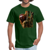 Sloth t-shirt - Animal Face T-Shirt - forest green