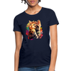 Praying Cat Women's T-Shirt - navy