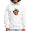 Tiger with Moon Hoodie - Animal Face Hoodie - white