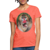 Mandrill Monkey Women's T-Shirt - heather coral