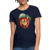 Watercolor Tiger Women's T-Shirt - navy