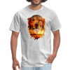 Golden Retriever Dog t-shirt - Animal Face T-Shirt - heather gray