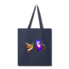 Hummingbird Tote Bag - navy