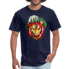 Watercolor tiger t-shirt - navy