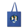Penguin Tote Bag - royal blue