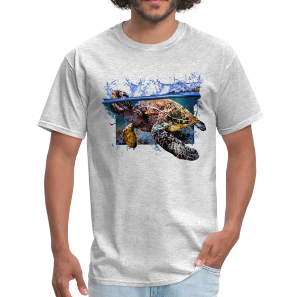 Sea Turtle T-Shirt - Animal Face T-Shirt - heather gray