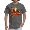 Frog t-shirt - Animal Face T-Shirt - charcoal