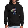 Young wolf standing hoodie - Animal Face Hoodie - black