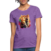 Praying Cat Women's T-Shirt - purple heather