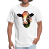 Holstein cow t-shirt - Animal Face T-Shirt - white