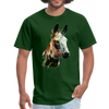 Donkey t-shirt - Animal Face T-Shirt - forest green