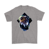 Wolf and moon T-Shirt - Animal Face T-Shirt