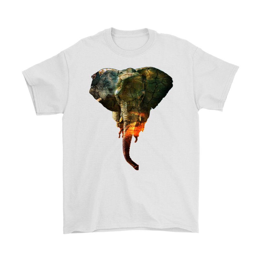 Elephant T-Shirt - Animal Face T-Shirt